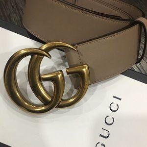 Accessories - Dust rose Gucci belt